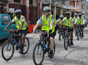 police beach bikes