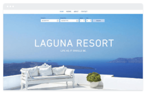 wix resort template
