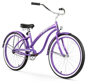 promo beach cruiser purple